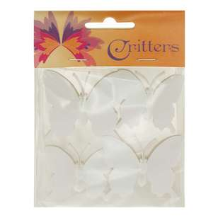 Ribtex Critters DIY Craft Plastic Butterfly 4 Pack