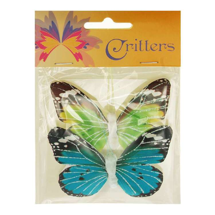 Ribtex Critters 9 x 6 cm Craft Butterfly 2 Pack