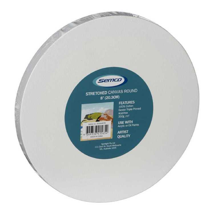 Semco Round Stretched Canvas