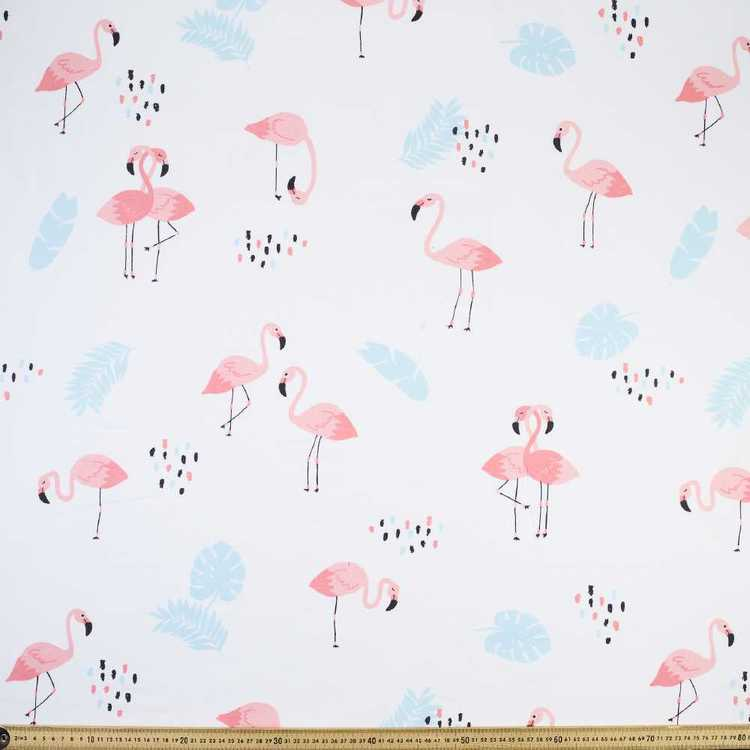 Happy Flamingo Cotton Fabric