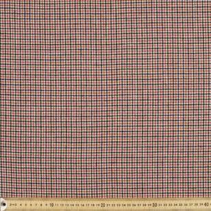 Mini Houndstooth Printed Yarn Dyed Fabric