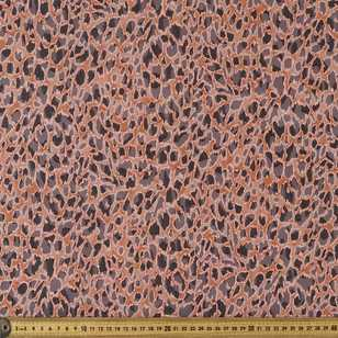 Cheetah Swirl 148 cm Burnout Chiffon Fabric