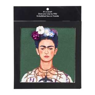 Frida Kahlo Embellished Sew On Transfer