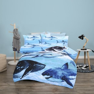 KOO Kids Whale Of A Time Quilt Cover Set