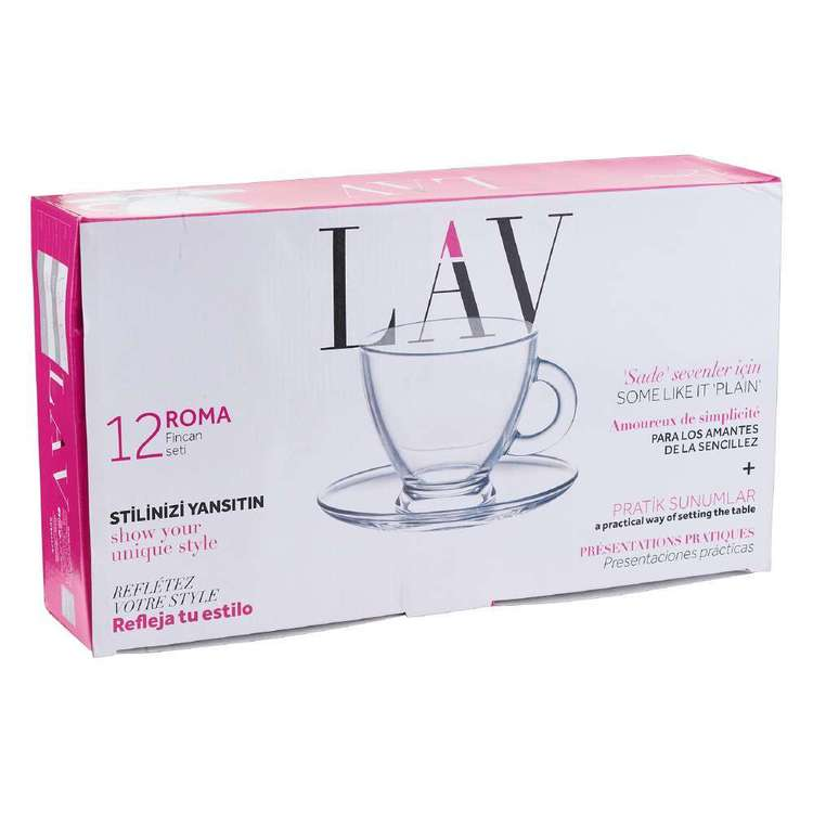 LAV Roma Set of 12 Cup & Saucer