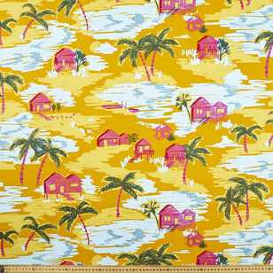 Ellie Whittaker Shacks Printed Fabric