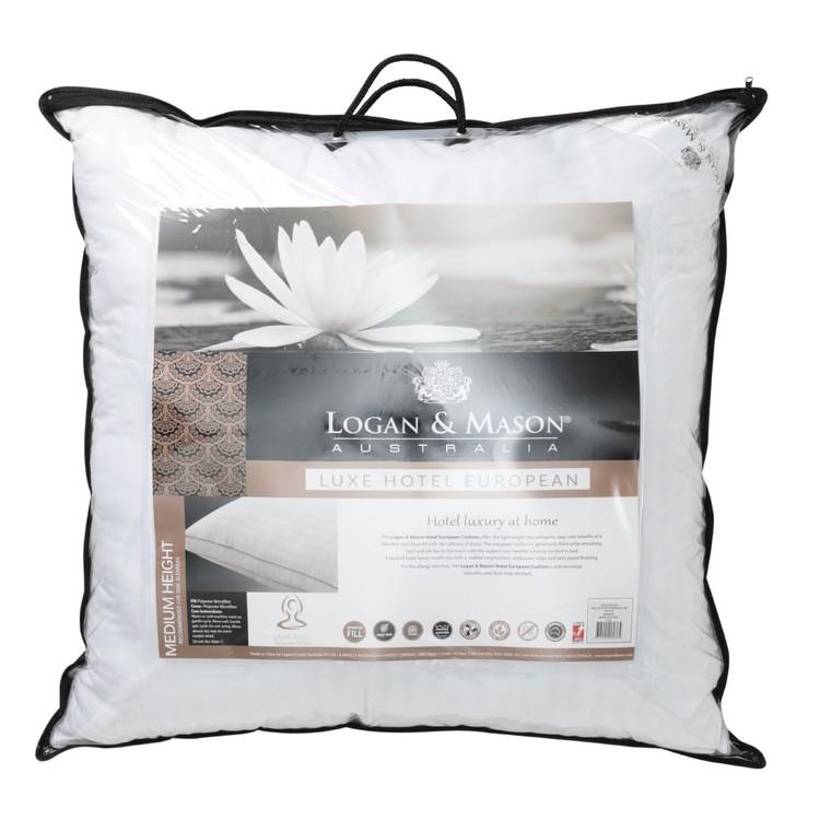 Logan & Mason Hotel Luxe Microfibre European Pillow