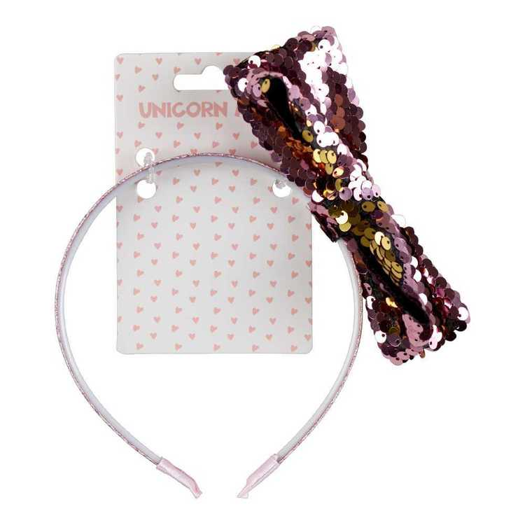 Unicorn Magic Sequin Bow Headband