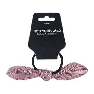 Find Your Wild Checkered Bow Hair Ring