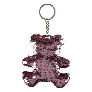 Unicorn Magic Sequin Bear Keychain