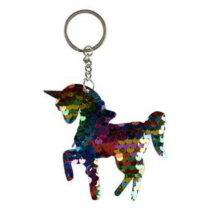 Unicorn Magic Sequin Unicorn Key Chain