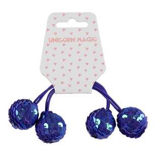 Unicorn Magic Sequin Ball Hair Elastic 2 Pack