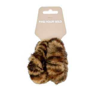 Find Your Wild Faux Fur Lame Scrunchie 2 Pack