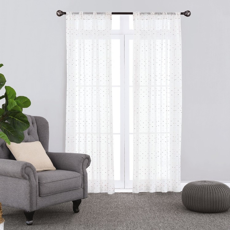KOO Sprinkle Rod Pocket Curtains