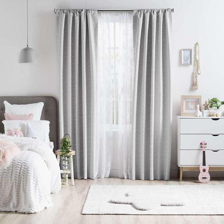 KOO Little Stars Rod Pocket Curtains