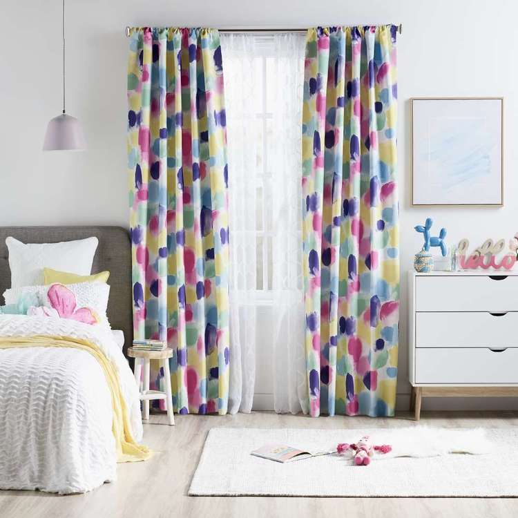 KOO Watercolour Rod Pocket Curtains