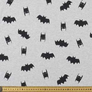 Batman Silhouette Unbrushed Fleece Fabric