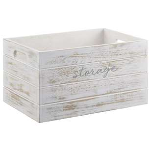 Bouclair Coastal Charm Typo Wooden Crate
