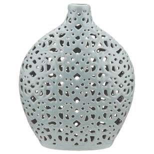 Bouclair Coastal Charm Lace Cut-out Ceramic Vase