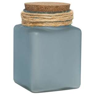 Bouclair Coastal Charm Frost Glass Bottle with Cork Lid