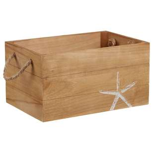 Bouclair Coastal Charm Starfish Wooden Crate