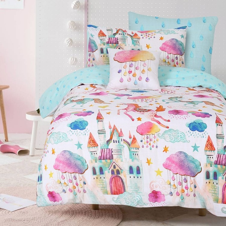 Kids House Wonderland Quilt Cover Set Multicoloured
