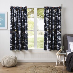 Kids House Dino Roar Pencil Pleat Curtains