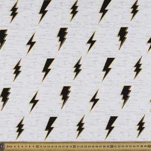 112 cm Lightning Struck Printed Poplin Fabric