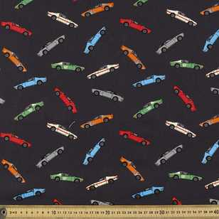 148 cm Racing Printed Montreaux Drill Fabric