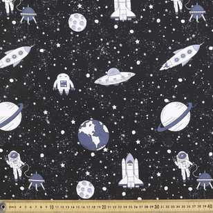 112 cm Spaceman Printed Poplin Fabric