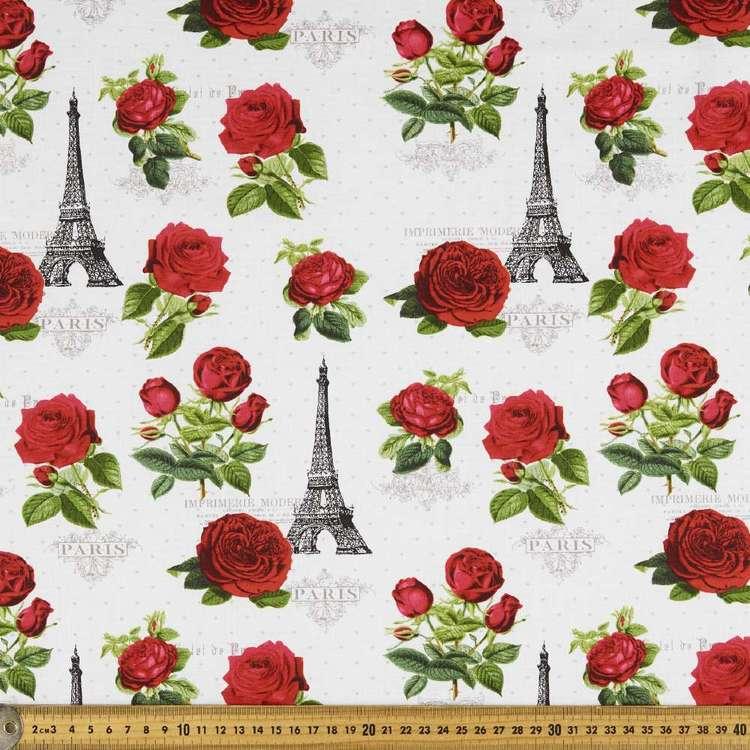 Chandelier Parisian Rose Cotton Fabric