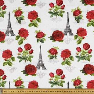 Chandelier Parisian Rose Cotton Fabric