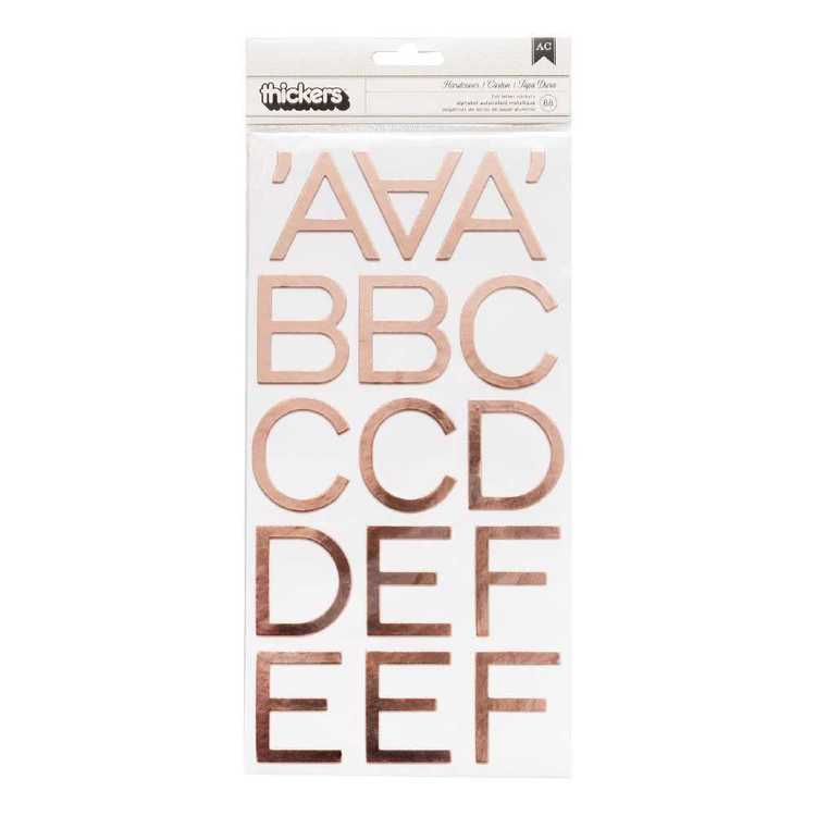 American Crafts Thickers Large Foil Stickers Rose Gold