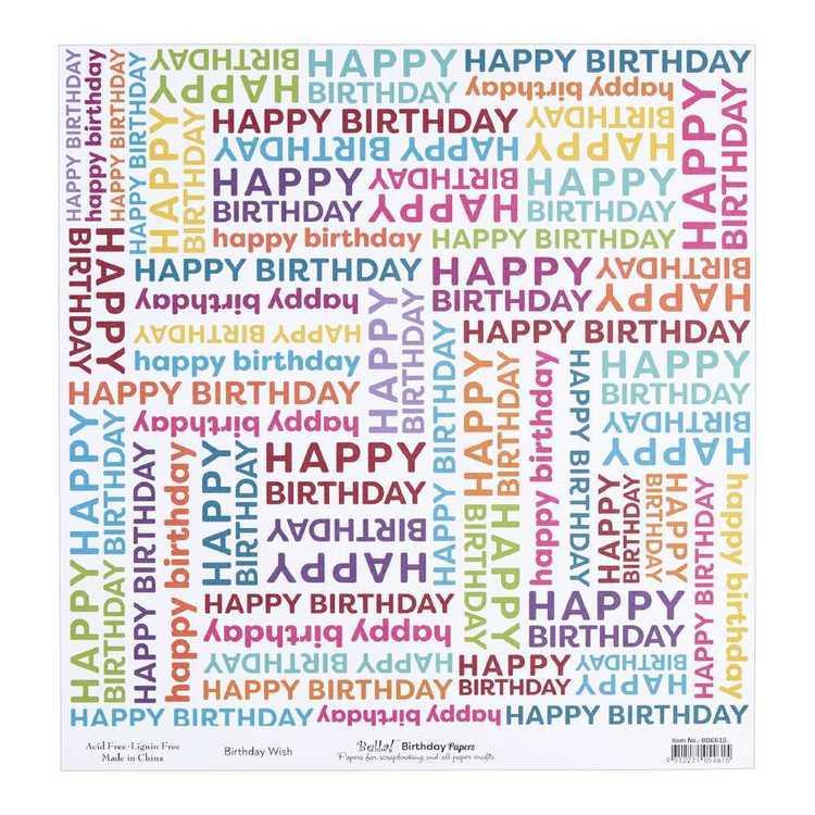 Bella Birthday Wish Cardstock Paper