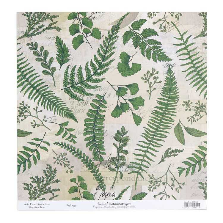 Bella Botanical Foliage Cardstock Paper