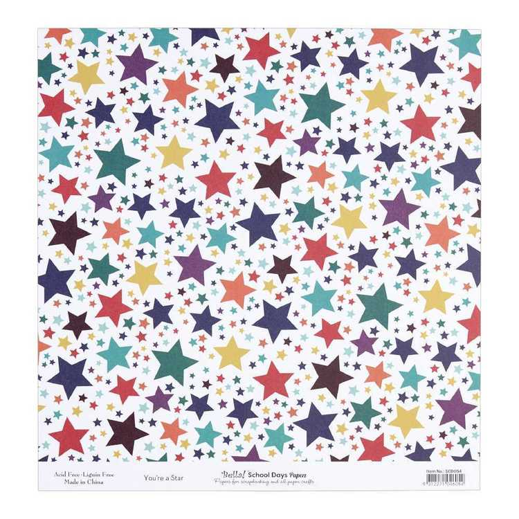 Bella School Days You're A Star Cardstock Paper Multicoloured