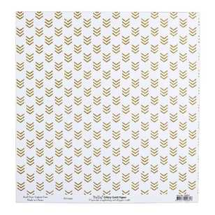 Bella Glitzy Gold Arrows Cardstock Paper