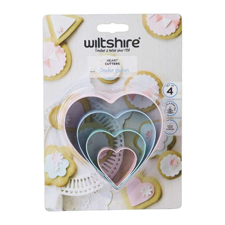 Wiltshire Heart Cutters Green, Pink & Blue