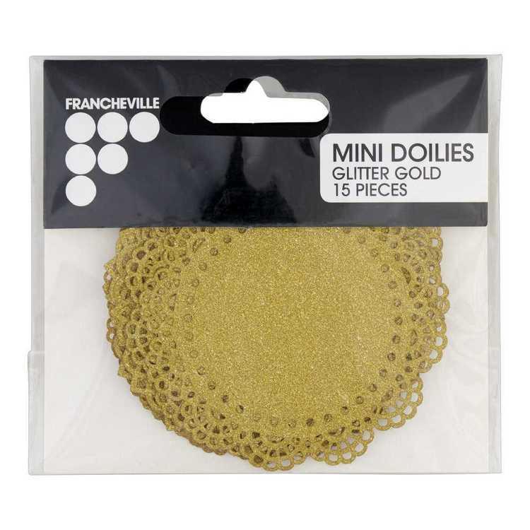 Francheville Glitter Mini Doilies 15 Pack