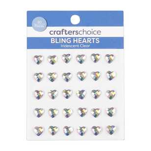Crafters Choice Iridescent Hearts 30 Pack