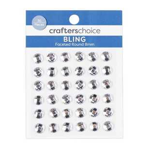 Crafters Choice Bling Faceted Round Crystal Pack