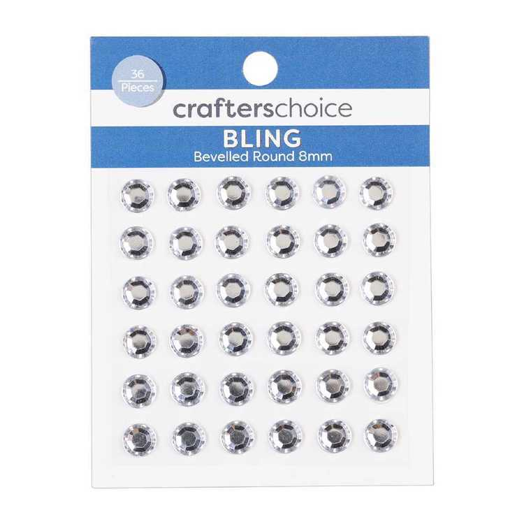 Crafters Choice Bling Bevelled Round Crystal Pack