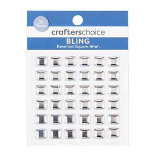 Crafters Choice Bling Bevelled Square Crystal Pack