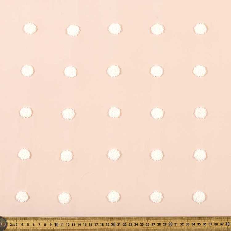 Dots Embroidered Georgette Fabric
