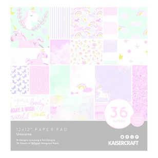Kaisercraft Unicorns Paper Pad