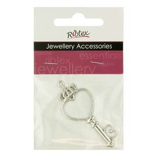 Ribtex Laser Heart Key Charm