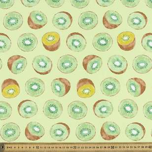 Kiwi Printed Japanese Poplin Fabric