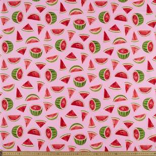 Watermelon Printed Japanese Poplin Fabric