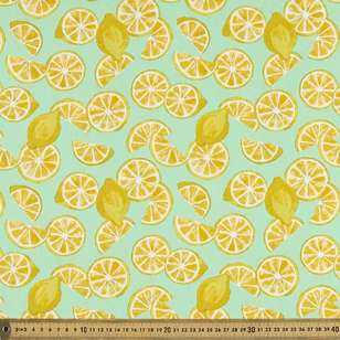 Lemon Printed Japanese Poplin Fabric