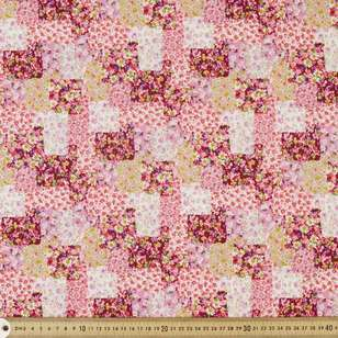 Floral Patch Printed Japanese Poplin Fabric
